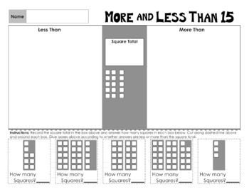 More and Less Than 11 to 20 Math Worksheets