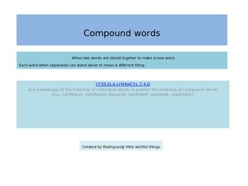 More compound words