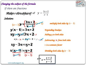 More difficult rearrangement of formulae