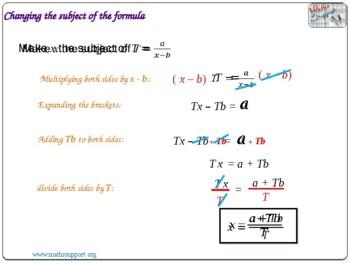 More difficult rearrangement of formulae