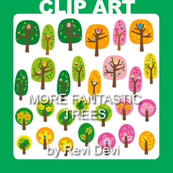 Trees clip art resource