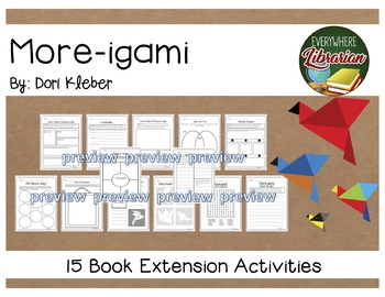 More-igami by Dori Kleber 15 Book Extension Activities EASY NO PREP