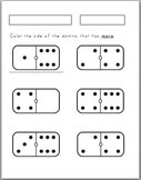 More, less, equal, equivalent worksheet activities (9 included)