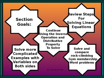 Algebra Power-Point:  More on Solving Linear Equations
