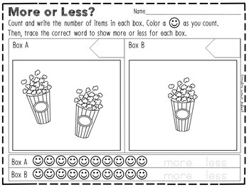 More or Less - Activity and Worksheets (Mini-Bundle)