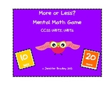 More or Less? Adding Tens Mental Math Game