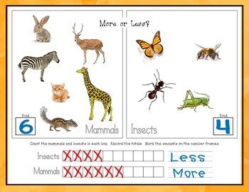 More or Less: Animal Groups (K.CC.6)