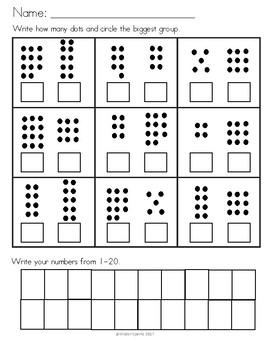 More or Less Assessment for Kindergarten