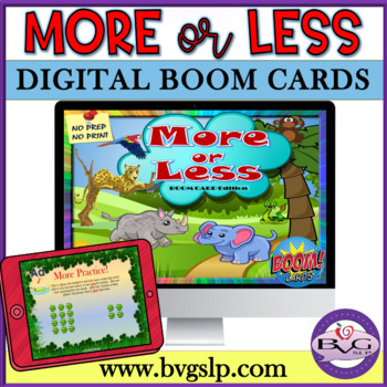 More or Less BOOM CARDS NO PREP NO PRINT - Teletherapy