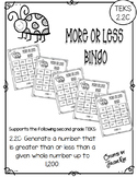 More or Less Bingo: TEKS 2.2C (1, 10, 100 more or less)
