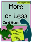 More or Less Card Game