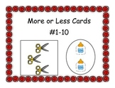 More or Less Cards #1 - 10