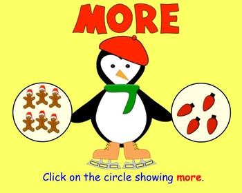 More or Less Christmas Edition  Interactive Smartboard Lesson for Kinder