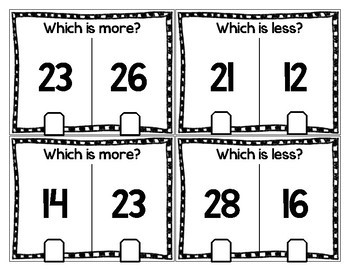 More or Less Clip Card Activity