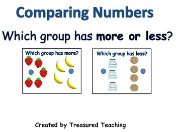 More or Less Comparing Numbers Hands On Math Center Activity