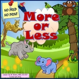 More or Less - NO PREP Digital or Speech Teletherapy Activity