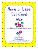 More or Less Dot Card War
