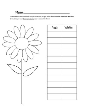 More or Less Flower Math Game