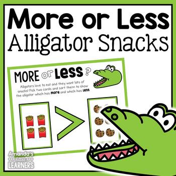 More or Less Game - Alligator Snacks