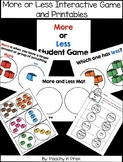 More or Less Interactive Game and Printables