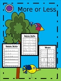 More or Less Kindergarten Worksheets