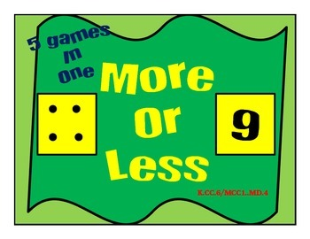More or Less Math Games with Board