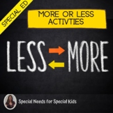 More or Less Math Unit for Special Education
