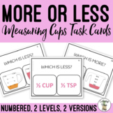 More or Less? Measuring Cups Task Card
