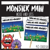 Monster Math More or Less Clip Cards