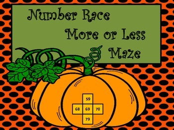 More or Less Number Race Maze