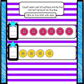 More or Less Number 1-10: Representation  (Smart Notebook)