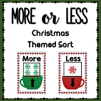 More or Less Sorting Game- Christmas/ Hot Chocolate Theme
