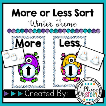 More or Less Sorting Game- Winter Theme