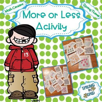 More or Less (Spring Theme)- Math Center