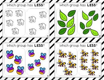 Comparison Task Cards (More & Less)