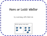 More or Less Task Cards: Winter