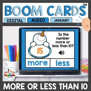 More or Less Than 10 Math Digital Task Cards Boom