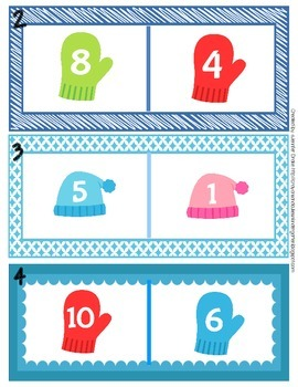 More or Less?  Winter Math Clipping Center PLUS Recording Sheet & Printables!