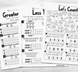 More or Less coloring worksheet