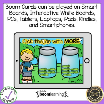 Boom Cards More or Less within 20