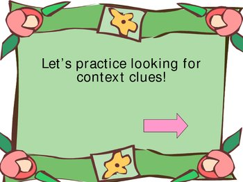 More practice with Context Clues Power Point Presentation