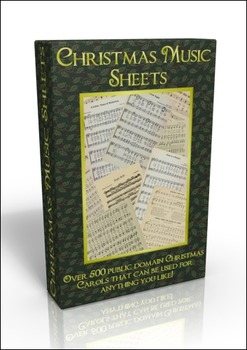 More than 500 public domain Christmas Carols Sheet Music on DVD