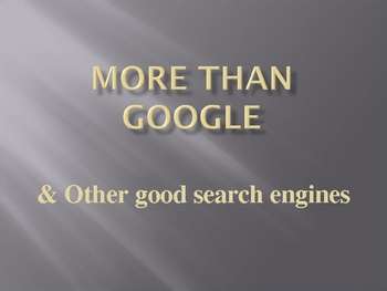 More than Google
