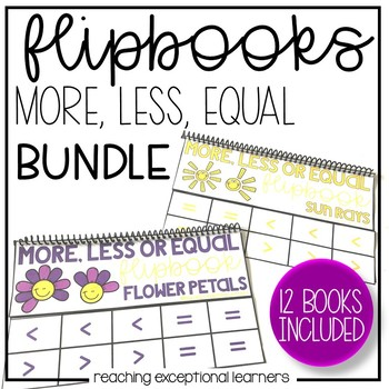 More than, Less than, Equal to Flipbooks Through the Year