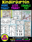 More than, less than, equals to; quantities, capacity and weight worksheets