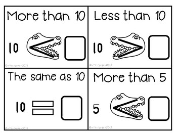 More than, Less than, the same same number fact game