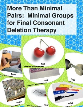 More than Minimal Pairs - Minimal Groups for Final Consonant Deletion Therapy
