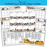 CALENDAR BIG SET Editable Templates (Karen's Kids Printables)