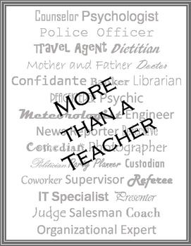More than a Teacher sign for classroom