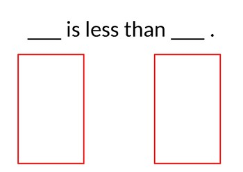 More than/less than/Equal to